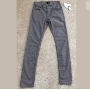 Hudson Men's Denim Jeans Slim Straight Gray 28/32